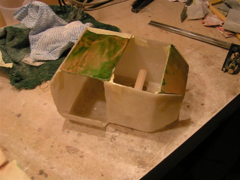 Bottom Section Added to Mold