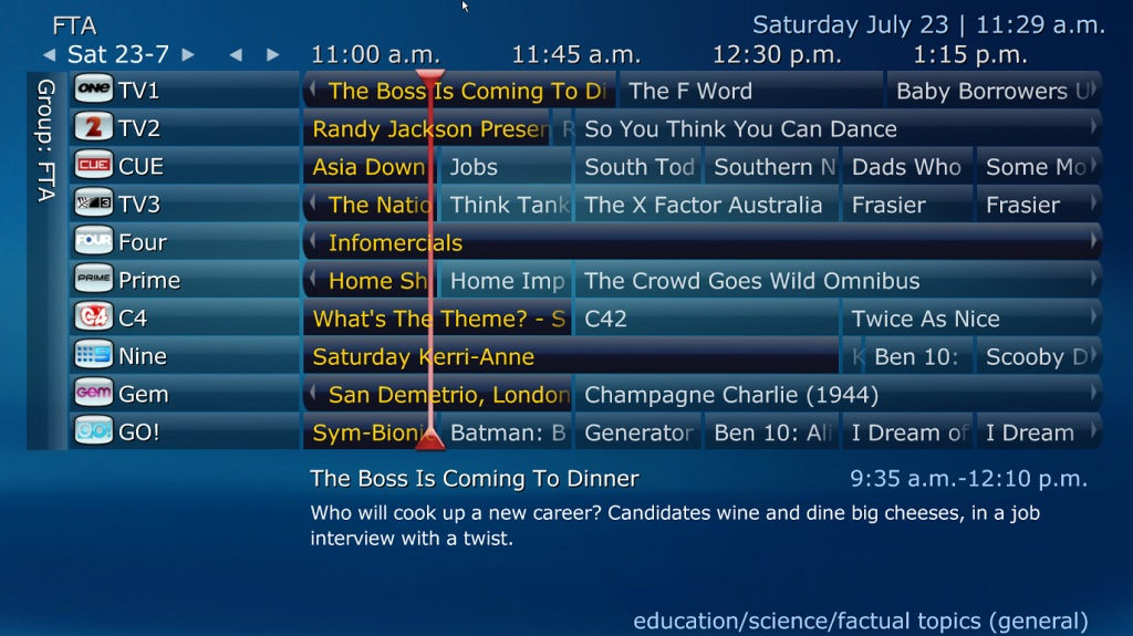 MediaPortal TV Guide